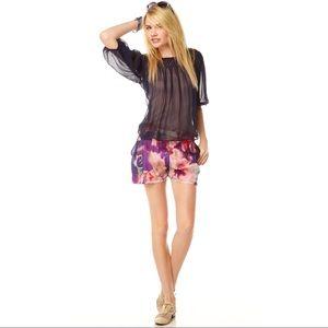 KAS NEW YORK Keke Silk Floral Short
